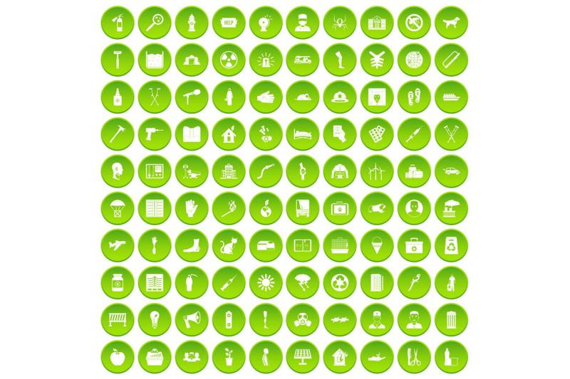 100-help-icons-set-green
