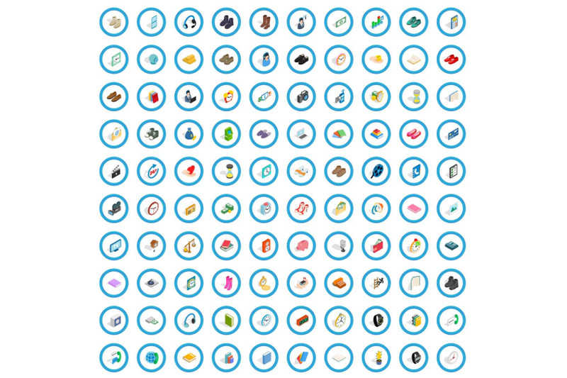 100-donation-icons-set-isometric-3d-style