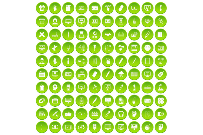 100-webdesign-icons-set-green