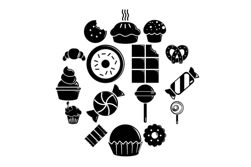 sweets-candy-cakes-icons-set-simple-style