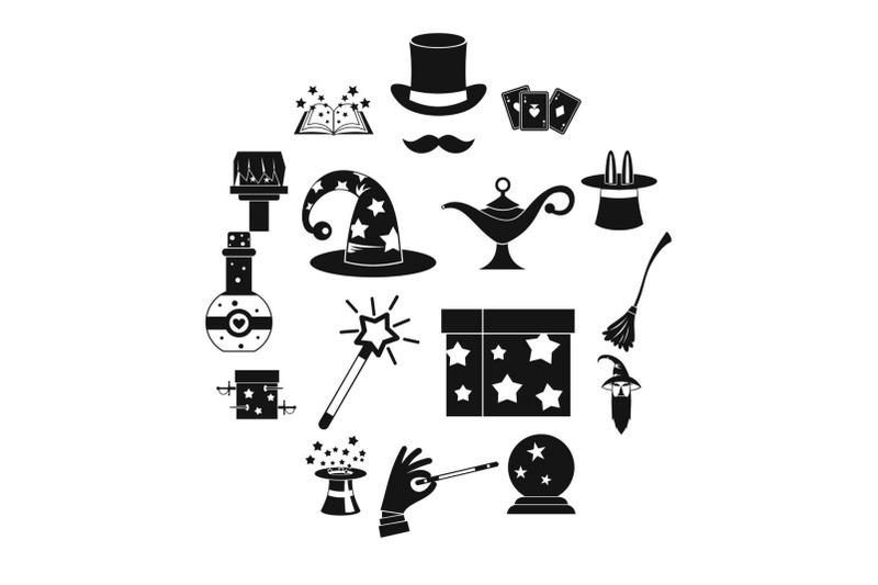 magic-icons-set-simple-style