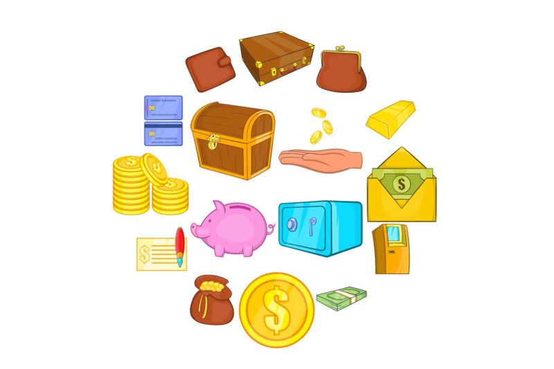 finance-icons-set-cartoon-style