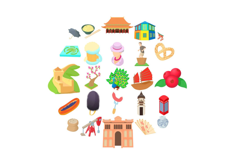 culture-of-communication-icons-set-cartoon-style