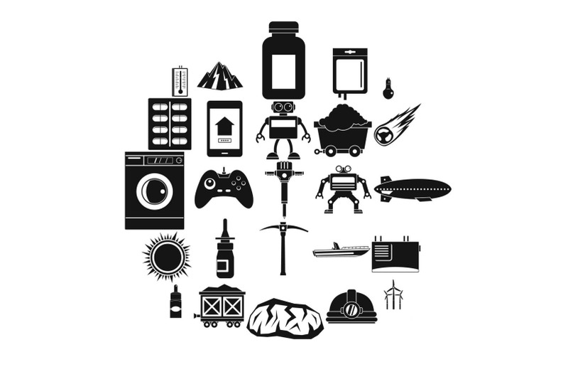 software-icons-set-simple-style