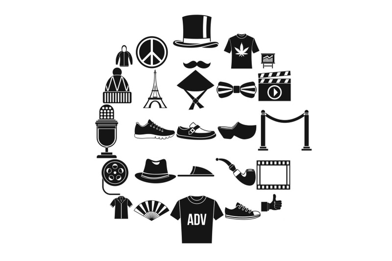 t-shirt-icons-set-simple-style