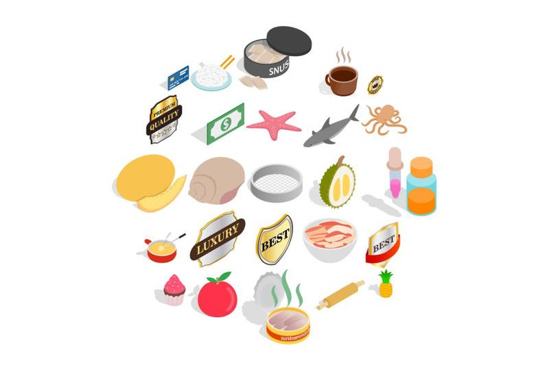 food-preparation-icons-set-isometric-style