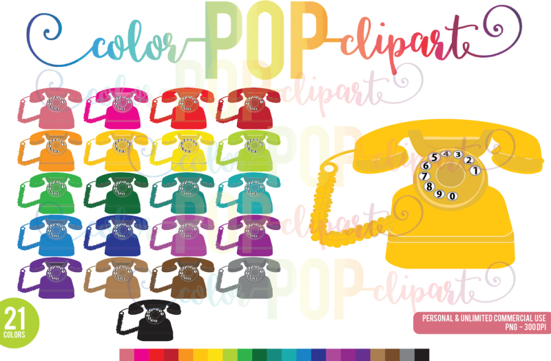 vintage-phone-clipart-planner-clipart