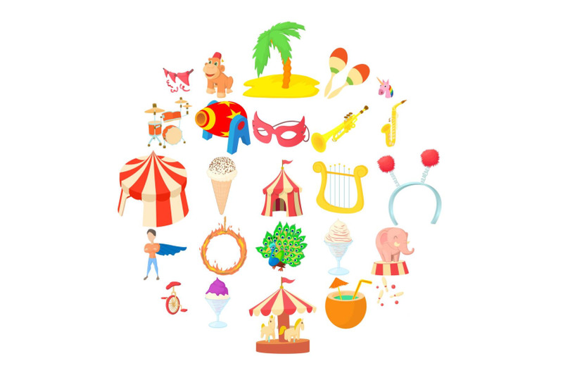 carnival-icons-set-cartoon-style