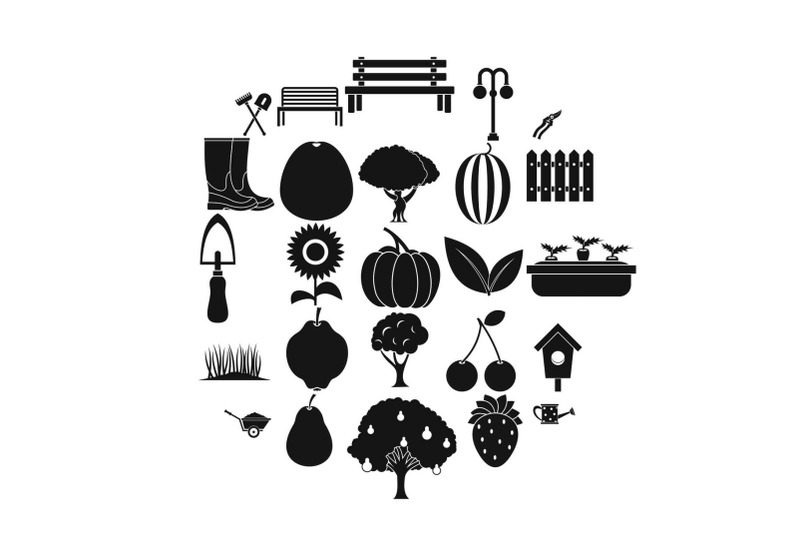 herb-icons-set-simple-style