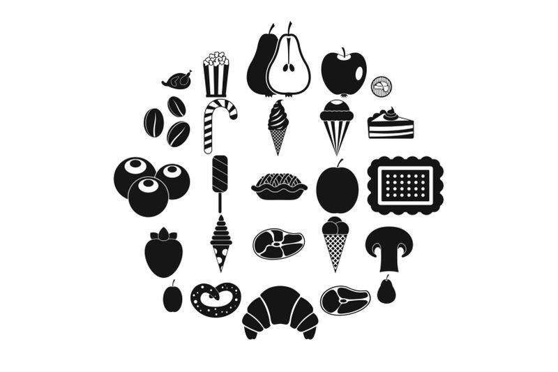 tasty-treats-icons-set-simple-style