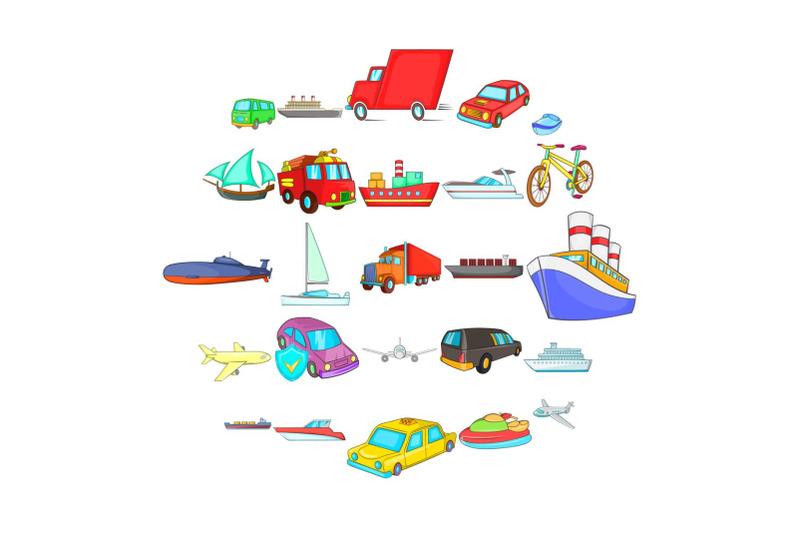 city-transport-icons-set-cartoon-style