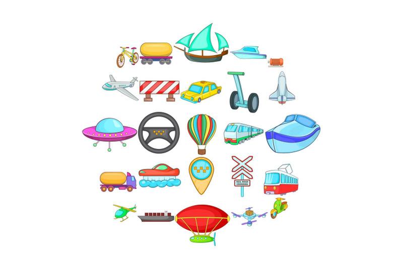 hauling-icons-set-cartoon-style