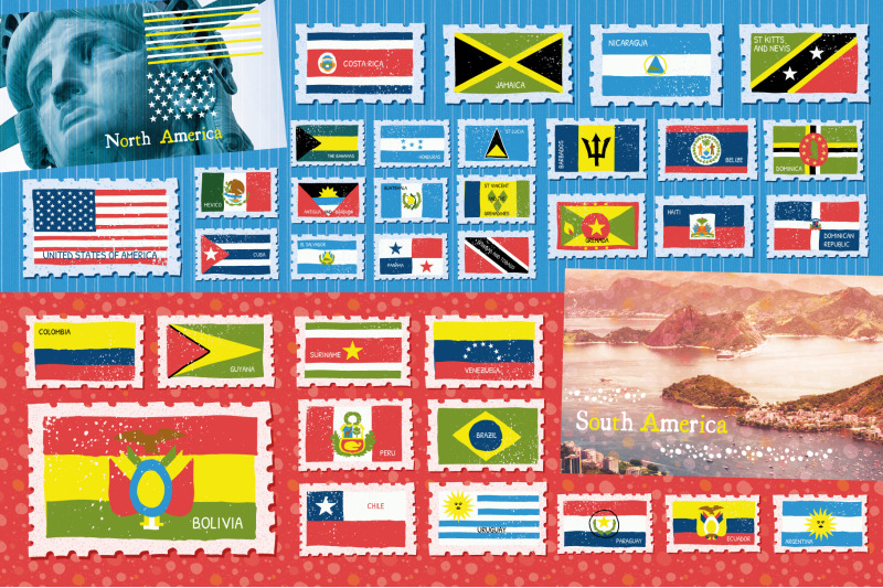 flags-of-the-world-illustrations