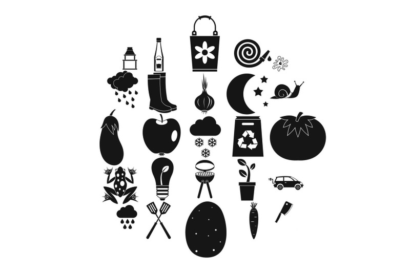 correct-health-icons-set-simple-style