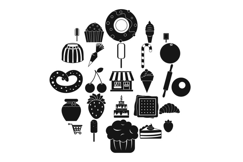 sweet-flavour-icons-set-simple-style