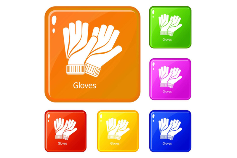 gloves-icons-set-vector-color