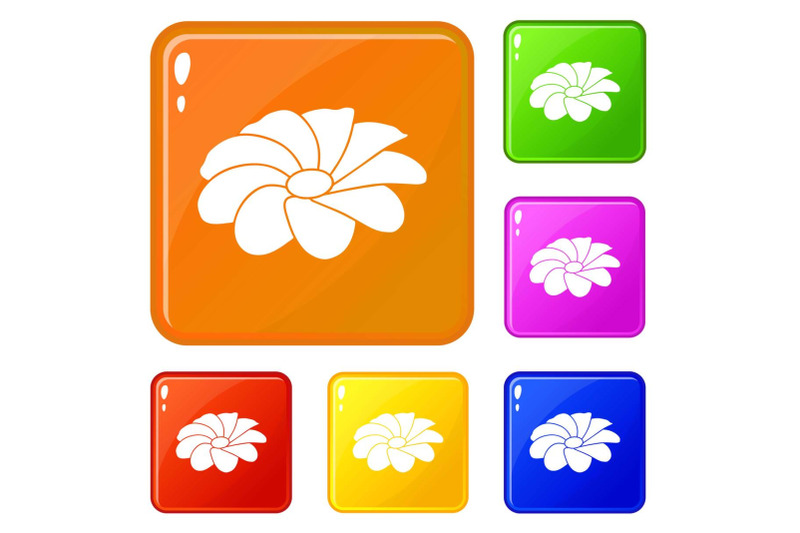 bright-flower-icons-set-vector-color