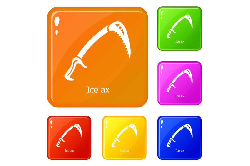 ice-ax-icons-set-vector-color