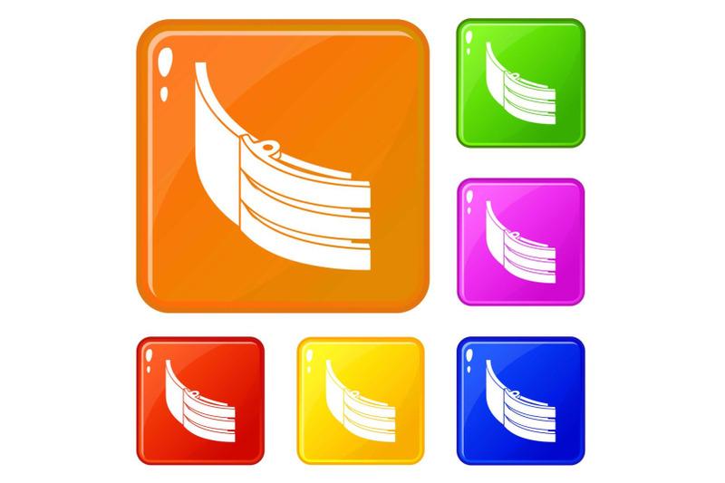 strap-belt-icons-set-vector-color