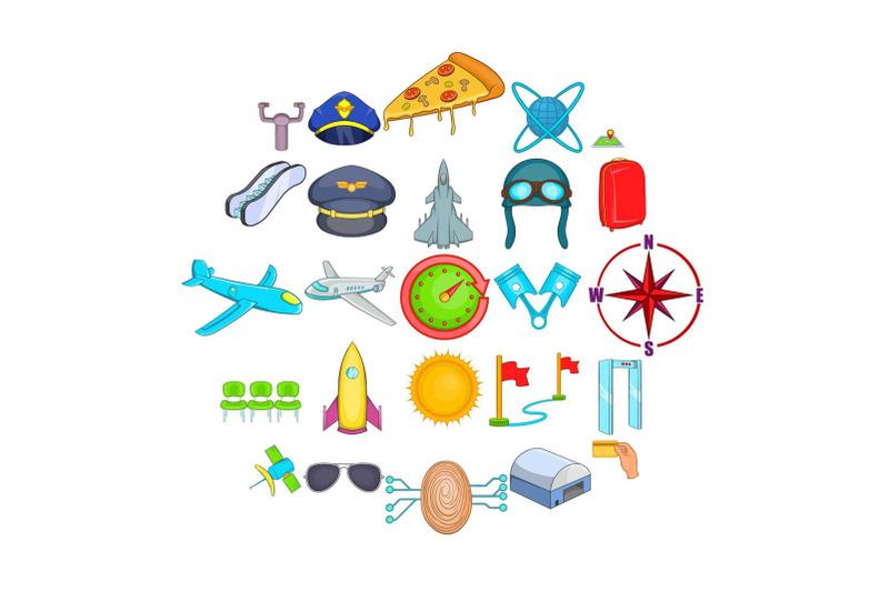 aircraft-pilots-icons-set-cartoon-style
