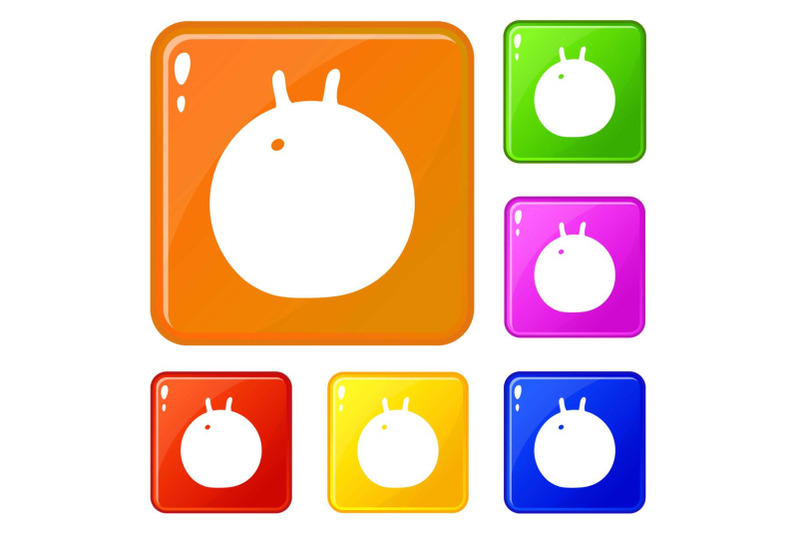 fitness-ball-icons-set-vector-color