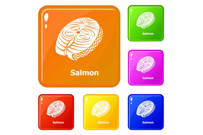 salmon-icons-set-vector-color