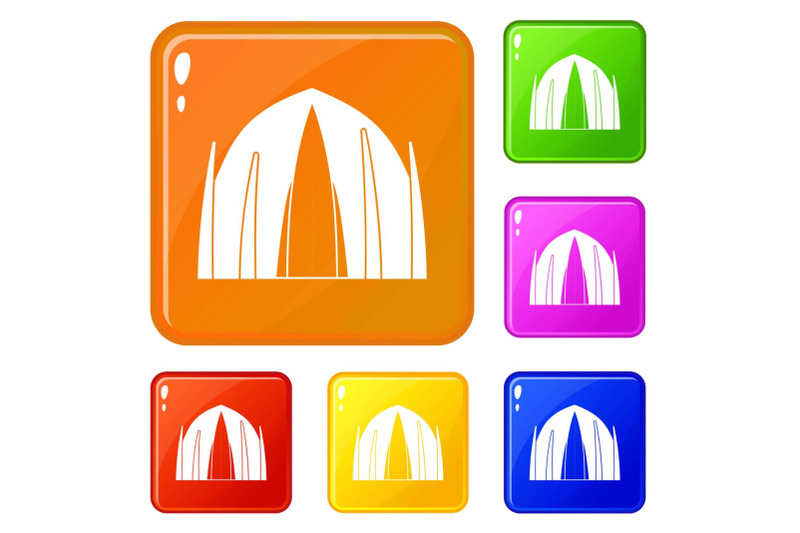 human-house-icons-set-vector-color