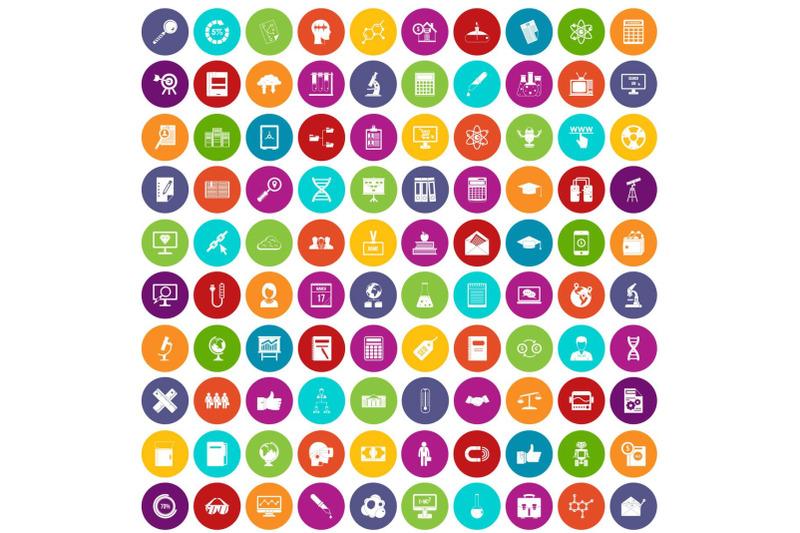 100-analytics-icons-set-color