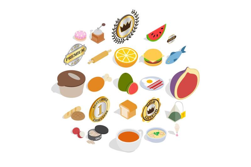 fast-food-icons-set-isometric-style