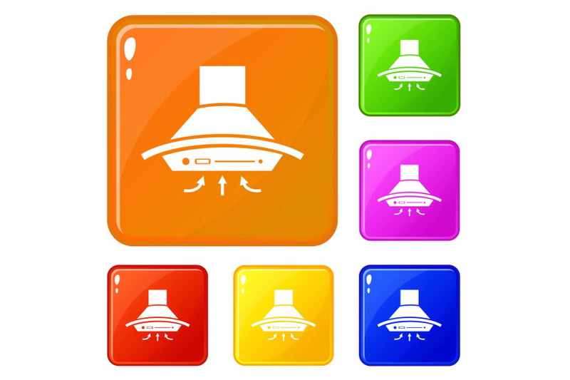 cooker-hood-icons-set-vector-color