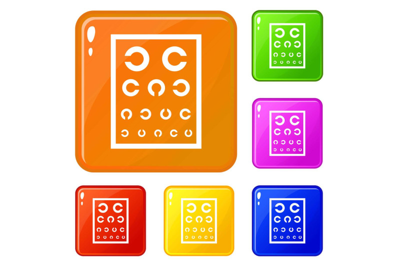 ophthalmology-tablet-icons-set-vector-color