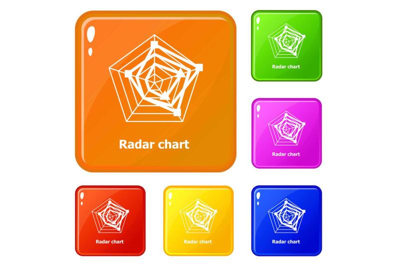radar-chart-icons-set-vector-color