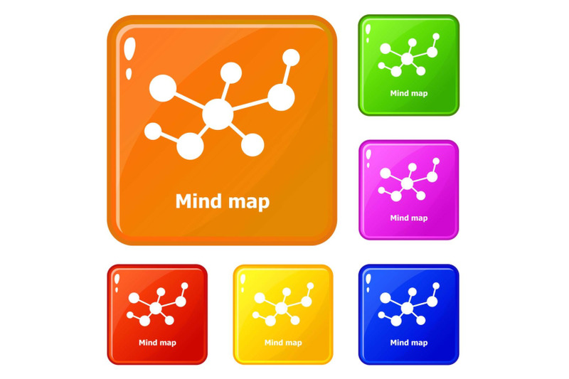 mind-map-icons-set-vector-color