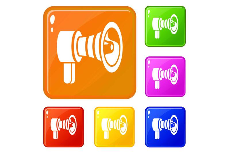 handspeaker-icons-set-vector-color
