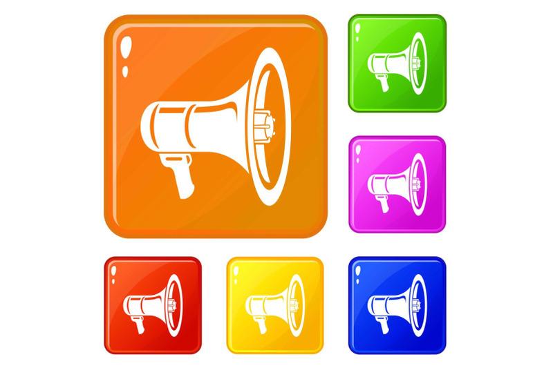 voice-amplifier-icons-set-vector-color