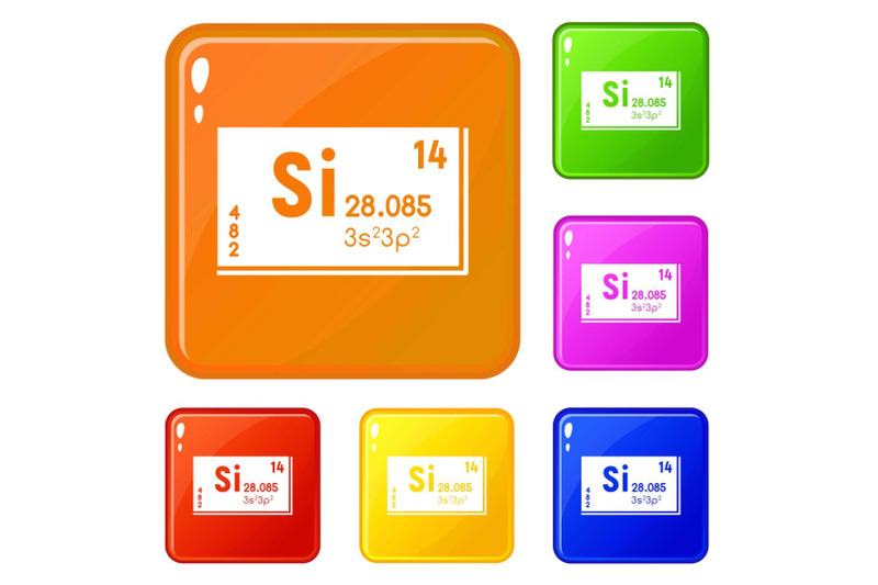 silicons-set-vector-color