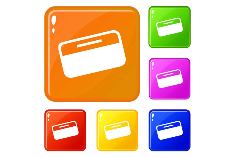 dollar-stack-icons-set-vector-color