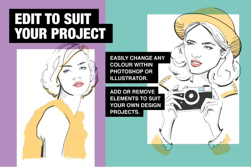 fashion-portrait-illustrations