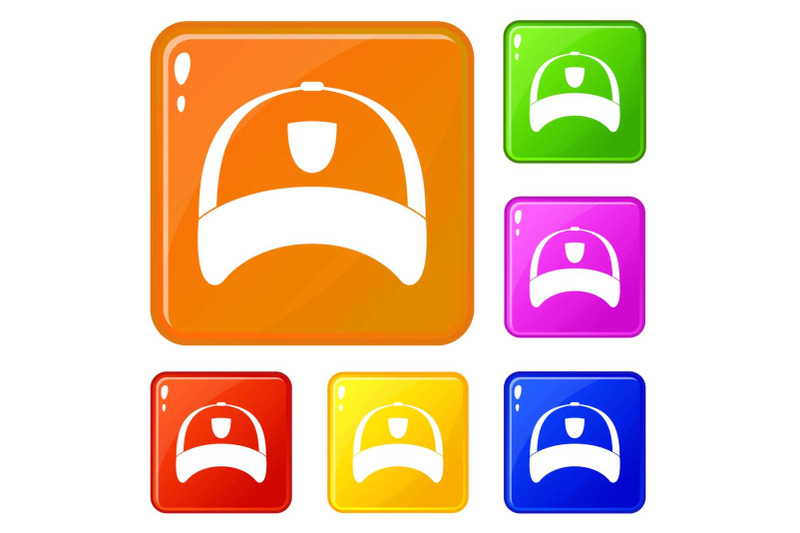 winter-hat-icons-set-vector-color