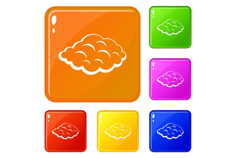 small-cloud-icons-set-vector-color