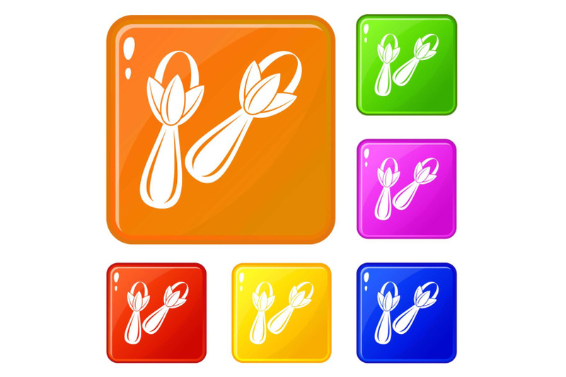 spice-cloves-icons-set-vector-color