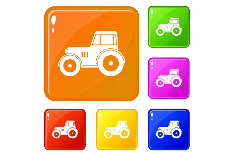 tractor-icons-set-vector-color