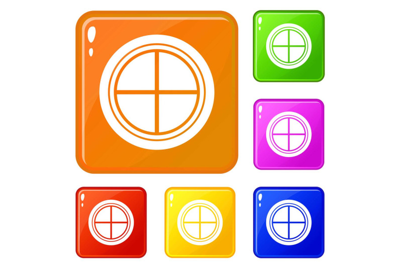 white-round-window-icons-set-vector-color