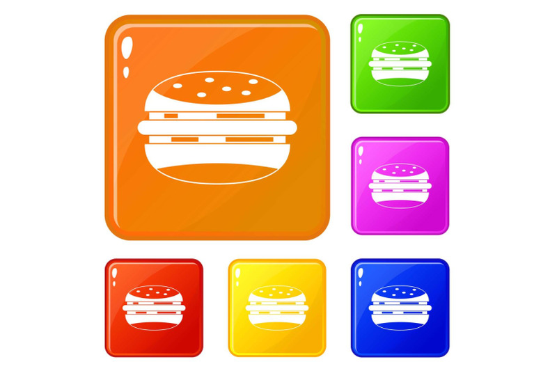 burger-icons-set-vector-color