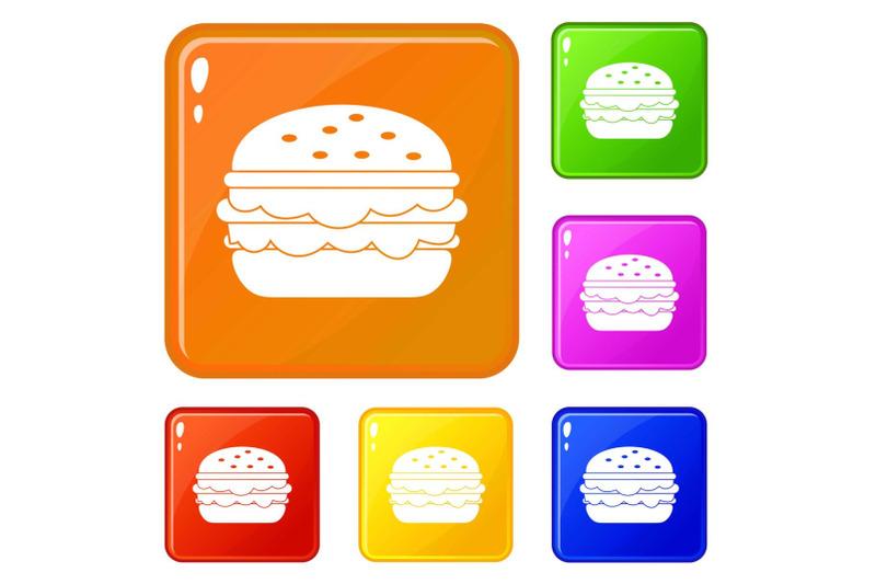 burger-icons-set-vector-color