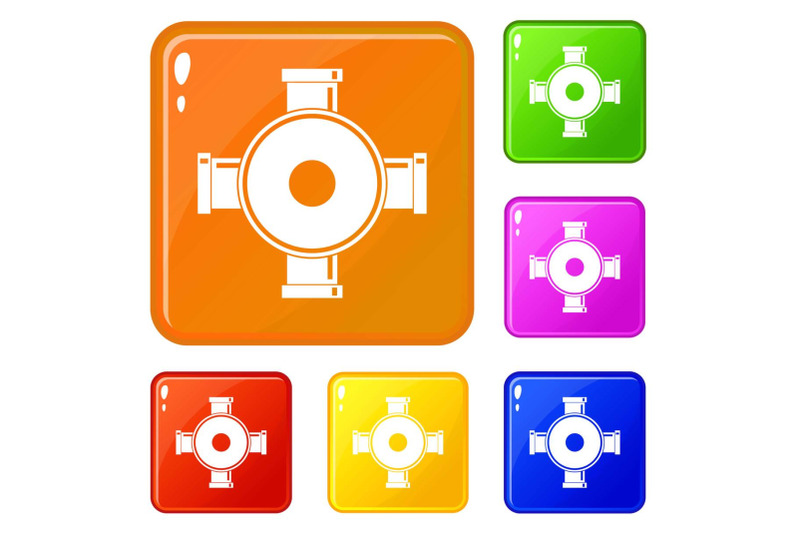 pipe-fitting-icons-set-vector-color