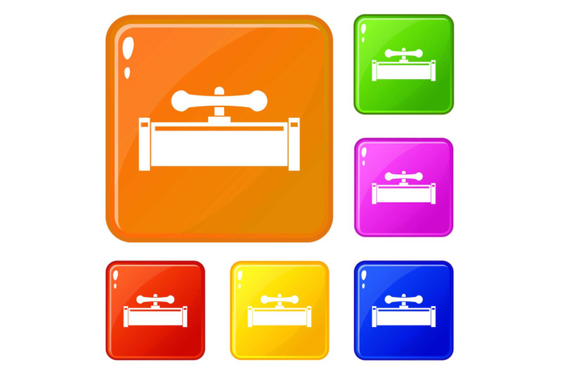 plumbing-valve-icons-set-vector-color
