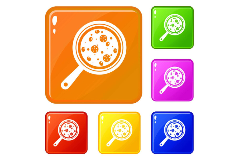 pizza-with-ingredients-on-board-icons-set-vector-color