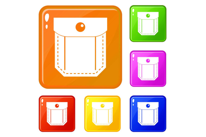 pocket-with-valve-and-button-icons-set-vector-color