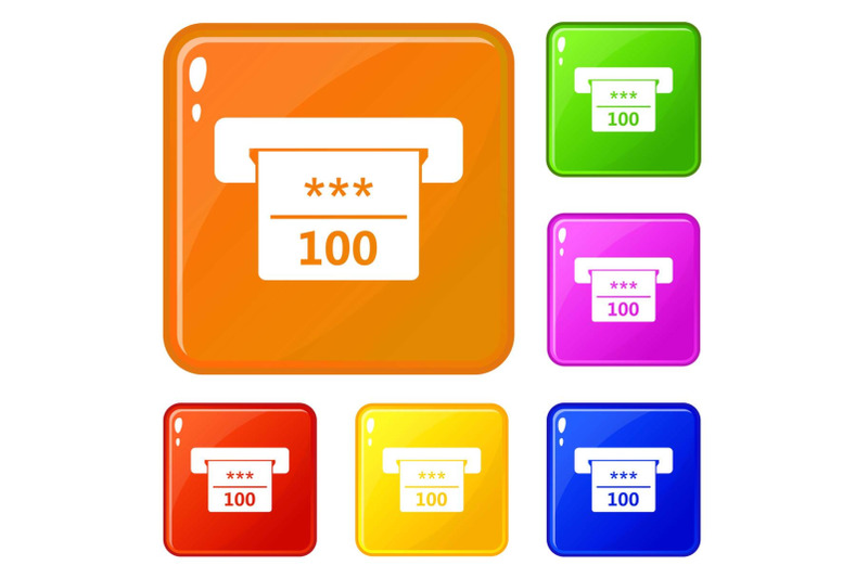 winning-cheque-in-casino-icons-set-vector-color